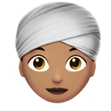 Woman Wearing Turban: Medium Skin Tone on Apple iOS 10.0