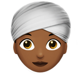 Woman Wearing Turban: Medium-Dark Skin Tone on Apple iOS 10.0