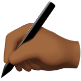Writing Hand: Medium-Dark Skin Tone on Apple iOS 10.0