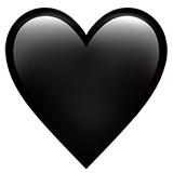 Black Heart on Apple iOS 10.2