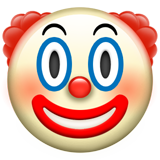 Clown Face on Apple iOS 10.2