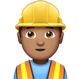 Construction Worker: Medium Skin Tone on Apple iOS 10.2