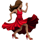 Woman Dancing: Medium Skin Tone on Apple iOS 10.2