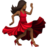 Woman Dancing: Medium-Dark Skin Tone on Apple iOS 10.2