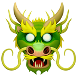 Dragon Face on Apple iOS 10.2