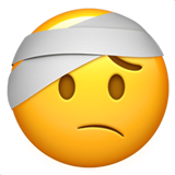 Face with Head-Bandage on Apple iOS 10.2