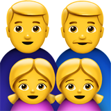 Family: Man, Man, Girl, Girl on Apple iOS 10.2