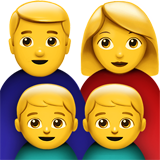 Family: Man, Woman, Boy, Boy on Apple iOS 10.2