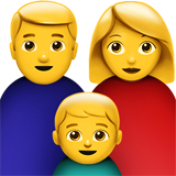 Family: Man, Woman, Boy on Apple iOS 10.2