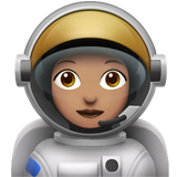 Woman Astronaut: Medium Skin Tone on Apple iOS 10.2