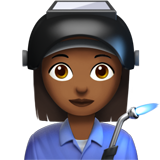 Woman Factory Worker: Medium-Dark Skin Tone on Apple iOS 10.2