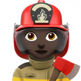 Woman Firefighter: Dark Skin Tone on Apple iOS 10.2
