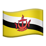 Flag: Brunei on Apple iOS 10.2