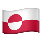 Flag: Greenland on Apple iOS 10.2