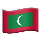Flag: Maldives on Apple iOS 10.2