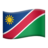 Flag: Namibia on Apple iOS 10.2