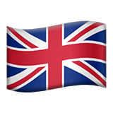 Flag: United Kingdom on Apple iOS 10.2