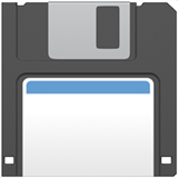 Floppy Disk on Apple iOS 10.2