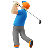 Person Golfing: Medium-Light Skin Tone on Apple iOS 10.2