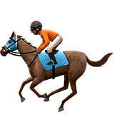 Horse Racing: Medium-Dark Skin Tone on Apple iOS 10.2