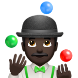 Person Juggling: Dark Skin Tone on Apple iOS 10.2