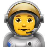 Man Astronaut on Apple iOS 10.2