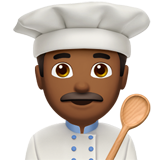 Man Cook: Medium-Dark Skin Tone on Apple iOS 10.2