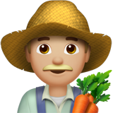 Man Farmer: Medium-Light Skin Tone on Apple iOS 10.2