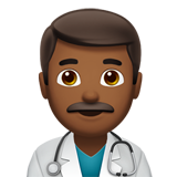 Man Health Worker: Medium-Dark Skin Tone on Apple iOS 10.2