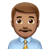 Man Office Worker: Medium Skin Tone on Apple iOS 10.2