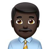 Man Office Worker: Dark Skin Tone on Apple iOS 10.2