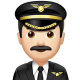 Man Pilot: Light Skin Tone on Apple iOS 10.2