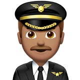 Man Pilot: Medium Skin Tone on Apple iOS 10.2