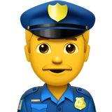 Man Police Officer on Apple iOS 10.2