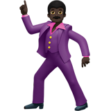 Man Dancing: Dark Skin Tone on Apple iOS 10.2