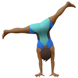 Man Cartwheeling: Medium-Dark Skin Tone on Apple iOS 10.2