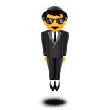 Person in Suit Levitating on Apple iOS 10.2