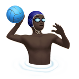 Man Playing Water Polo: Dark Skin Tone on Apple iOS 10.2