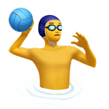 Man Playing Water Polo on Apple iOS 10.2