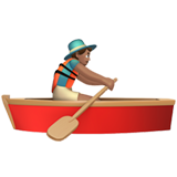 Man Rowing Boat: Medium Skin Tone on Apple iOS 10.2