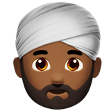 Man Wearing Turban: Medium-Dark Skin Tone on Apple iOS 10.2