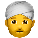 Man Wearing Turban on Apple iOS 10.2