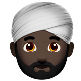 Person Wearing Turban: Dark Skin Tone on Apple iOS 10.2