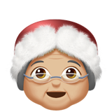 Mrs. Claus: Medium-Light Skin Tone on Apple iOS 10.2