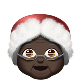 Mrs. Claus: Dark Skin Tone on Apple iOS 10.2