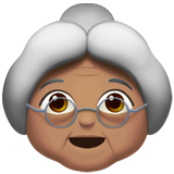 Old Woman: Medium Skin Tone on Apple iOS 10.2