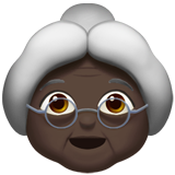 Old Woman: Dark Skin Tone on Apple iOS 10.2