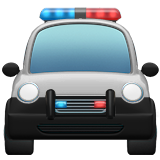 Oncoming Police Car on Apple iOS 10.2
