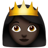 Princess: Dark Skin Tone on Apple iOS 10.2