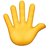 Hand with Fingers Splayed on Apple iOS 10.2